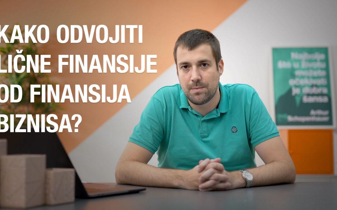 Kako odvojiti lične finansije od finansija biznisa?